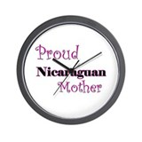 Proud Nicaraguan Mother Wall Clock