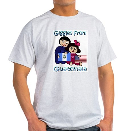 Giggles Girl & Boy Ash Grey T-Shirt