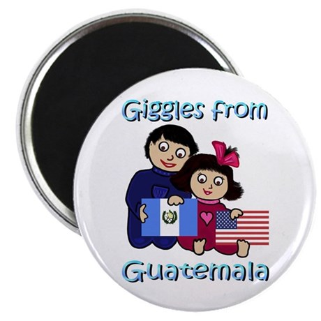 "Giggles Girl & Boy 2.25"" Magnet (10 pack)"