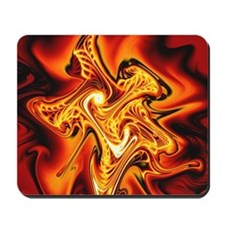 """Blazing Cipher"" Fractal Art Mousepad"
