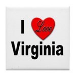 I Love Virginia Tile Coaster