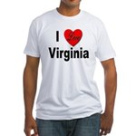 I Love Virginia (Front) Fitted T-Shirt