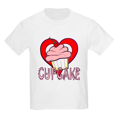 Valentine Cherry Cupcake Kids Light T-Shirt