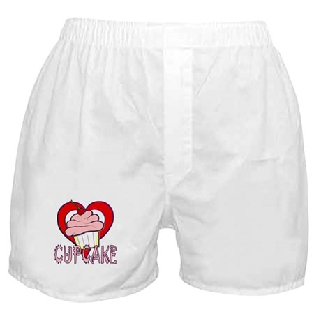 Valentine Cherry Cupcake Boxer Shorts