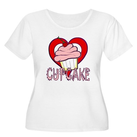 Valentine Cherry Cupcake Women's Plus Size Scoop N