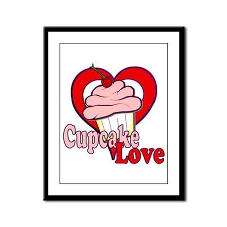 Cupcake Love Framed Panel Print