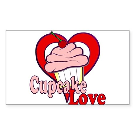 Cupcake Love Rectangle Sticker