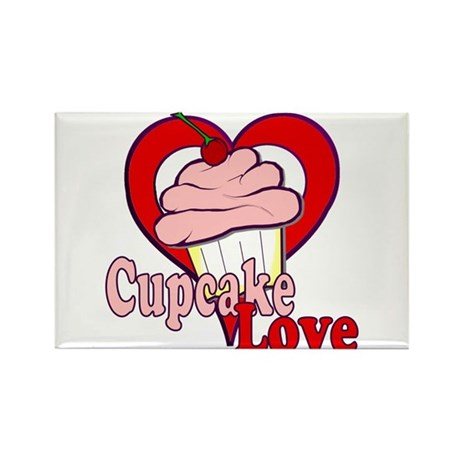 Cupcake Love Rectangle Magnet (10 pack)