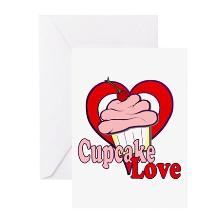 Cupcake Love Greeting Cards (Pk of 10)