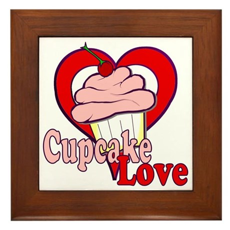 Cupcake Love Framed Tile