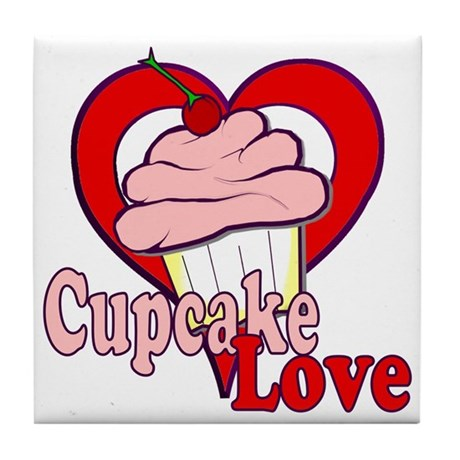 Cupcake Love Tile Coaster
