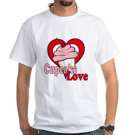 Cupcake Love White T-Shirt