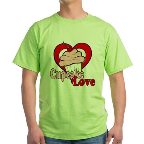 Cupcake Love Green T-Shirt