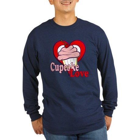 Cupcake Love Long Sleeve Dark T-Shirt