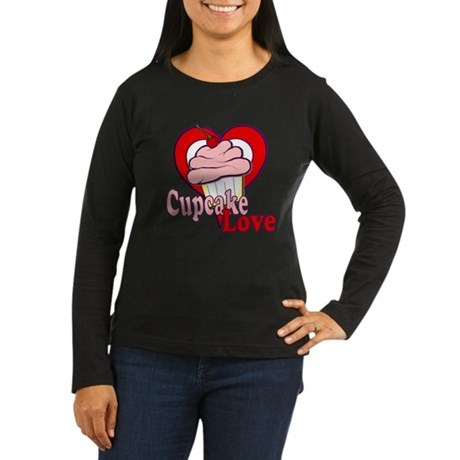 Cupcake Love Women's Long Sleeve Dark T-Shirt