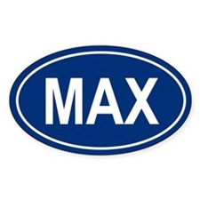 MAX Oval Decal