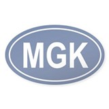 MGK Oval Decal