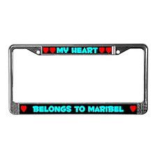 My Heart: Maribel (#003) License Plate Frame