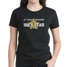 2nd Grade Teacher Rock Star Tee