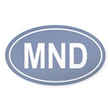 MND Oval Decal