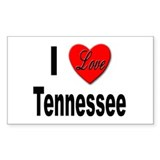 I Love Tennessee Rectangle Decal