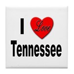 I Love Tennessee Tile Coaster