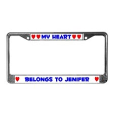 My Heart: Jenifer (#005) License Plate Frame