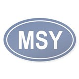 MSY Oval Decal