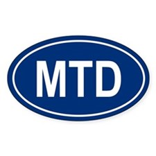 MTD Oval Decal