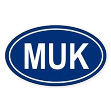 MUK Oval Bumper Stickers