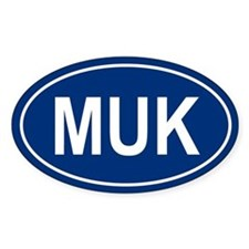 MUK Oval Decal