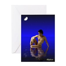 Moondream by Rippleman Greeting Card