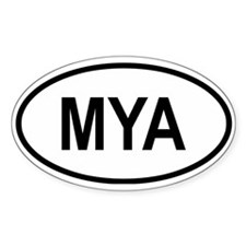 Myanmar Oval Decal