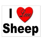 I Love Sheep for Sheep Lovers Small Poster