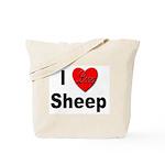I Love Sheep for Sheep Lovers Tote Bag