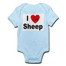 I Love Sheep for Sheep Lovers Infant Creeper