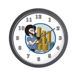 Bank Teller Wall Clock