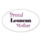 Proud Leonean Mother Oval Decal