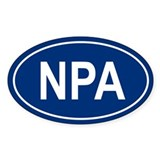 NPA Oval Decal