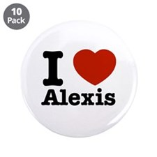 "I love Alexis 3.5"" Button (10 pack)"