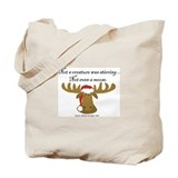 Moose Christmas Tote Bag