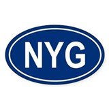 NYG Oval Decal