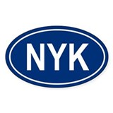 NYK Oval Decal