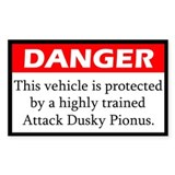 Danger Attack Dusky Pionus Decal
