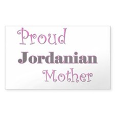 Proud Jordanian Mother Rectangle Decal