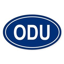 ODU Oval Decal
