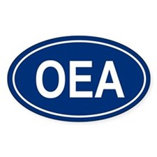 OEA Oval Decal