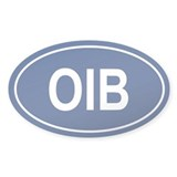 OIB Oval Decal