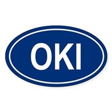 OKI Oval Decal