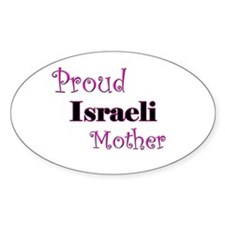 Proud Israeli Mother Oval Decal
